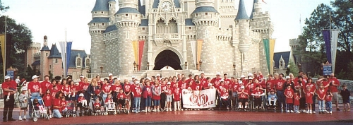 The         group picture in front of Cinderella's castle in WDW